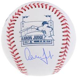 Aaron Judge Signed 2017 AL Rookie of the Year Logo Baseball (Fanatics Hologram   MLB Hologram)