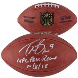 """Drew Brees Signed """"The Duke"""" Official NFL Game Ball Inscribed """"NFL Pass Record 10/8/18"""" (Fanatics Ho"""