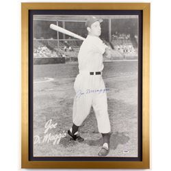 Joe DiMaggio Signed New York Yankees 21x27 Custom Framed Photo (PSA LOA)