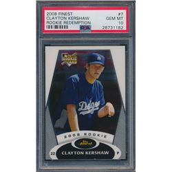 2008 Finest Rookie Redemption #7 Clayton Kershaw (PSA 10)