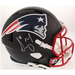 Sony Michel Signed New England Patriots Matte Black Full-Size Speed Helmet (Beckett COA)