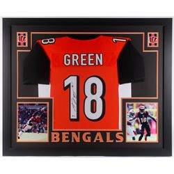 A. J. Green Signed Cincinnati Bengals 35x43 Custom Framed Jersey (Beckett COA)