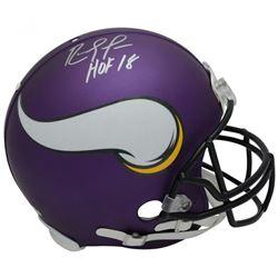 "Randy Moss Signed Minnesota Vikings Full-Size Authentic On-Field Helmet Inscribed ""HOF 18"" (Fanatics"