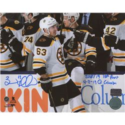 Brad Marchand Signed Boston Bruins 8x10 Photo with Incription (Marchand COA)