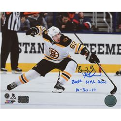 """Brad Marchand Signed Boston Bruins 8x10 Photo Inscribed """"200th NHL Goal 10-30-17"""" (Marchand COA)"""