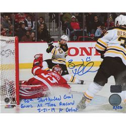 Brad Marchand Signed Boston Bruins 8x10 Photo with Extensive Incription (Marchand COA)