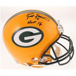 """Brett Favre Signed Green Bay Packers Full-Size Authentic On-Field Helmet Inscribed """"HOF 16"""" (Radtke"""