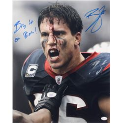 "Brian Cushing Signed Houston Texans 16x20 Photo Inscribed ""Bring It On B****"" (JSA COA)"
