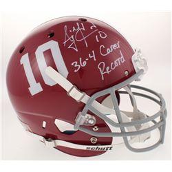 """A.J. McCarron Signed Alabama Crimson Tide Full-Size Helmet Inscribed """"36-4 Career Record"""" (Radtke CO"""