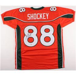 Jeremy Shockey Signed Miami Hurricanes Jersey (Beckett COA)
