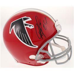 Devonta Freeman Signed Atlanta Falcons Throwback Full-Size Authentic On-Field Helmet (Radtke COA)