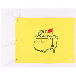 Sergio Garcia Signed 2017 Masters Tournament Pin Flag (JSA COA)