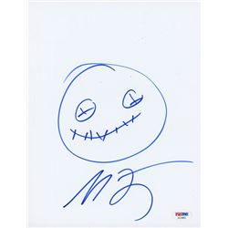 Michael Dougherty Signed 8.5x11 Cut with Original Sketch (PSA COA)