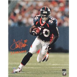 "Terrell Davis Signed Denver Broncos 16x20 Photo Inscribed ""2x SB Champ"" (Radtke COA)"