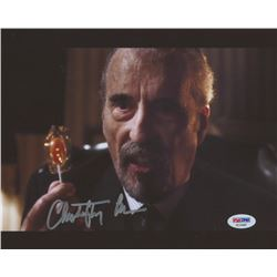 "Christopher Lee Signed ""Charlie and the Chocolate Factory"" 8x10 Photo (PSA COA)"