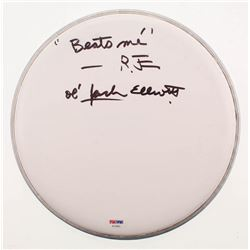 "Ramblin' Jack Elliott Signed 10"" Drumhead Inscribed ""Beats Me""  ""Ol' Jack Elliott"" (PSA COA)"