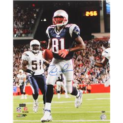 Randy Moss Signed New England Patriots 16x20 Photo (Radtke COA  Moss Hologram)