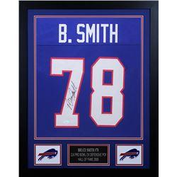 Bruce Smith Signed Buffalo Bills 24x30 Custom Framed Jersey (JSA COA)
