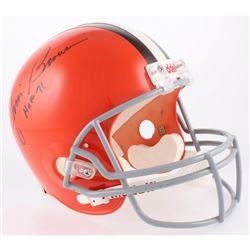 """Jim Brown Signed Cleveland Browns Full-Size Helmet Inscribed """"HOF 71"""" (JSA COA)"""