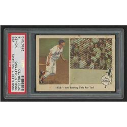 1959 Fleer Ted Williams #62 1958 Sixth Batting Title (PSA 4)