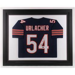 Brian Urlacher Signed Chicago Bears 35.5x43.5 Custom Framed Jersey (Radtke COA)