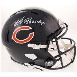 "Mike Singletary Signed Chicago Bears Full-Size Speed Helmet Inscribed ""SB XX Champs"" (Beckett COA)"