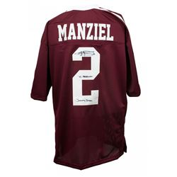 "Johnny Manziel Signed Texas AM Aggies Jersey Inscribed ""'12 Heisman""  ""Johnny Football"" (JSA COA)"