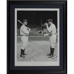 "Babe Ruth  Lou Gehrig LE ""Opening Day Photo"" 24x29 Custom Framed Giclee Display"