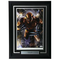 "Greg Horn Signed ""Wolverine"" 13x19 Custom Framed Lithograph Display (JSA COA)"