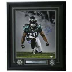 Brian Dawkins Signed Philadelphia Eagles 22x27 Custom Framed Photo Display (JSA COA)