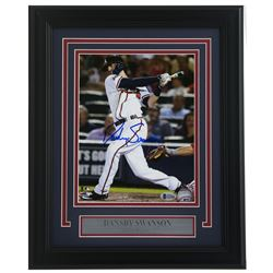 Dansby Swanson Signed Atlanta Braves 11x14 Custom Framed Photo Display (Beckett COA)