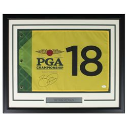 Henrik Stenson Signed 2016 PGA 21x27 Custom Framed Pin Flag Display (JSA COA)