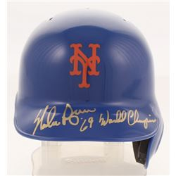 "Nolan Ryan Signed New York Mets Mini-Helmet Inscribed ""'69 World Champions"" (PSA COA)"