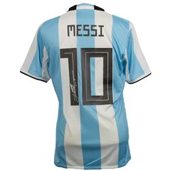 "Lionel Messi Signed Adidas Argentina Jersey Inscribed ""Leo"" (Messi COA)"