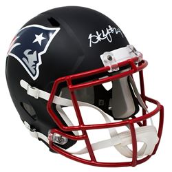 Stephon Gilmore Signed New England Patriots Custom Matte Black Speed Full-Size Helmet (Sports Integr
