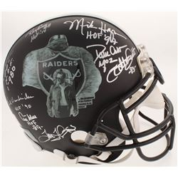 Oakland Raiders  Greats  Full-Size Helmet Signed By (22) With Odis McKinney, Ray Chester,  Jerry Rob