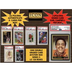 ICON AUTHENTIC 100X DOUBLE GRADED CARD MYSTERY BOX SERIES 5 (Guaranteed Signed Earl Campbell PSA/DNA