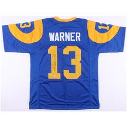 Kurt Warner Signed St. Louis Rams Jersey (Beckett COA)