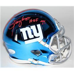 """Lawrence Taylor Signed New York Giants Chrome Mini Speed Helmet Inscribed """" HOF '99"""" (JSA COA)"""