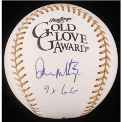 """Don Mattingly Signed Gold Glove Award Baseball Inscribed """"9x GG"""" (JSA COA)"""