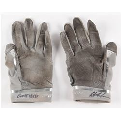 Austin Meadows Signed Pair of Game-Used Under Armour Batting Gloves (Radtke COA)
