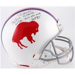 O. J. Simpson Signed Buffalo Bills Full-Size Authentic On-Field Helmet with Multiple Inscriptions (J