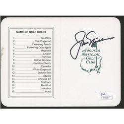"Jack Nicklaus Signed ""Masters"" Augusta National Golf Club Scorecard (JSA COA)"