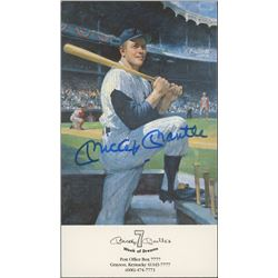 Mickey Mantle Signed New York Yankees 4x7 Career Highlight Stat Card (JSA ALOA)