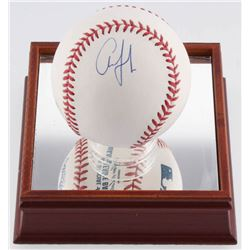 Aaron Judge Signed OML Baseball with High Quality Display Case (JSA LOA)