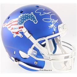 Courtland Sutton Signed SMU Mustangs Full-Size Helmet (JSA COA)
