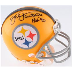 "Jack Lambert Signed Pittsburgh Steelers Mini-Helmet Inscribed ""HOF 90"" (JSA COA)"