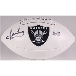 "Howie Long Signed Oakland Raiders Logo Football Inscribed ""HOF 00"" (JSA COA)"