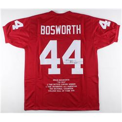 Brian Bosworth Signed Oklahoma Sooners Career Highlight Stat Jersey (JSA COA)