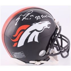 "Emmanuel Sanders Signed Denver Broncos Mini-Helmet Inscribed ""SB 50 Champs"" (JSA COA)"